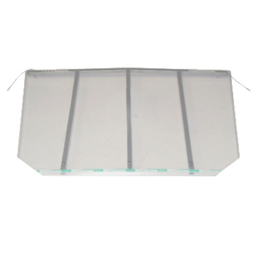 Window well coverings built with galvanized steel frames and UV protected clear polycarbonate materials.