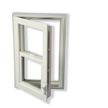 Single Hung Egress Window Dual Use For Safe Basement Exit
