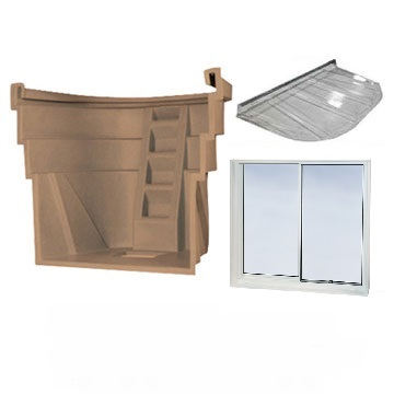 wellcraft egress window kit including vinyl window window well and