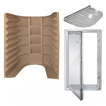 Make sure your basement renovations are up to code with the 2062 Wellcraft Egress Kit, contains window, well and cover.