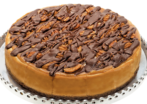 Chocolate Caramel Pecan Cheesecake