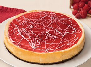 8 White Chocolate Raspberry Cheesecake