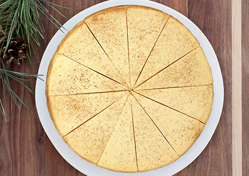 8 Egg Nog Cheesecake