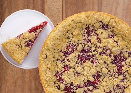 Cherry Linzer Cheesecake