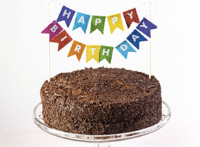 Birthday Celebrate-at-Home Party Kit - Chocolate Cake