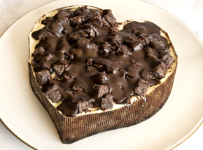 Chocolate Cheesecake Heart