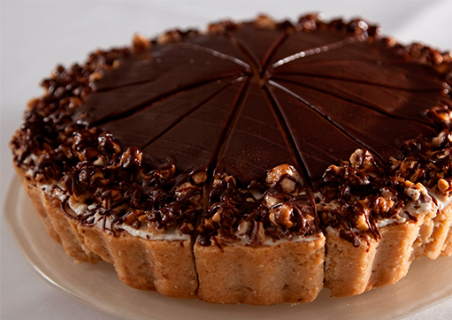Caramel Chocolate Cheesecake made with Snickers® Bar