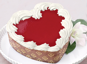White Chocolate Raspberry Heart Cheesecake