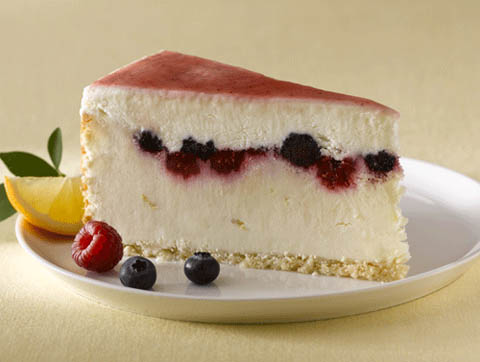 Lemon Mixed Berry Cheesecake