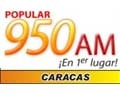 Popular 950 AM Caracas en Vivo Online