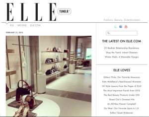 Elle Magazine's Tumblr Page