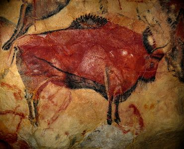 Altamira cave painting of a bison
