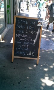 Yelp Meatball Bad Review