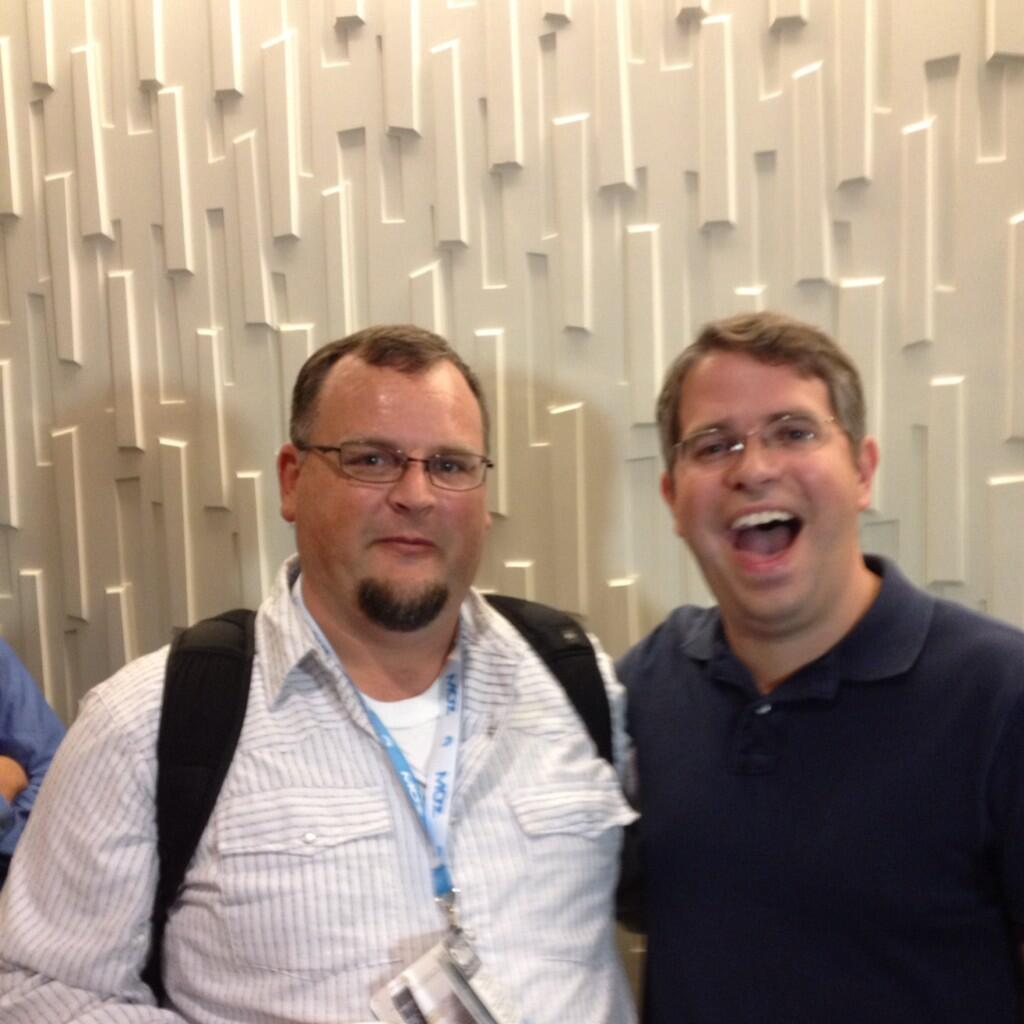 Joey goofing with Matt Cutts