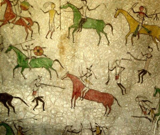 Cave wall painting