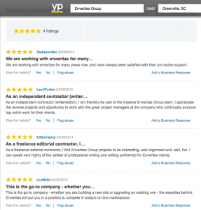 Yellow Pages Customer Reviews