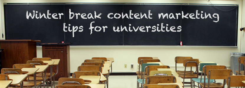 Winter Break Content Marketing Tips for Universities