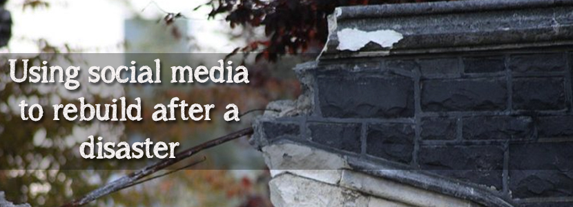 Social Media to help communities rebuild after disaster
