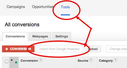 Import Google Analytics