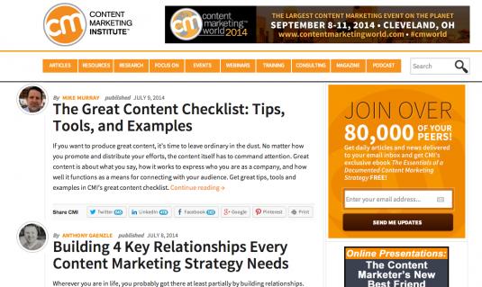 Content Marketing Blogs