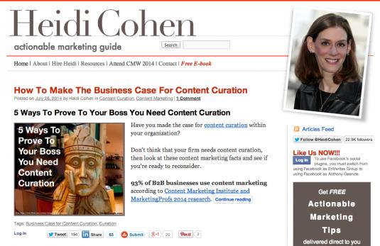 Heidi Cohen Content Marketing