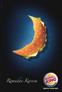 Burger King ad during Ramadan