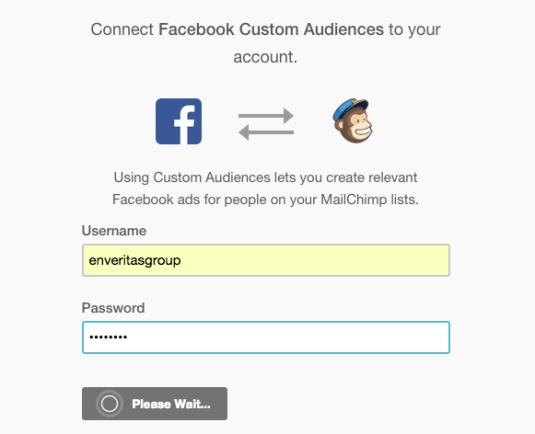 MailChimp Facebook