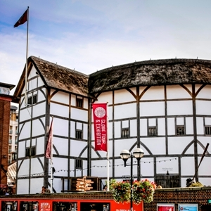 London, England, UK - September 6, 2012: Shakespeare's Globe is a reconstruction of the Globe Theatre, an Elizabethan playhouse in the London Borough of Southwark, on the south bank of the River Thames