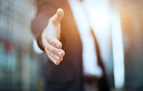 hand extending hand