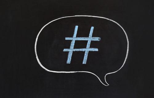 hashtag speech bubble