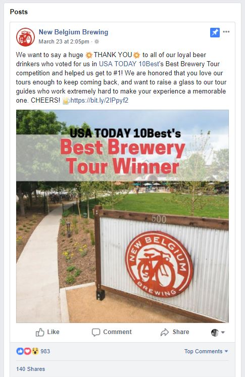 new belgium facebook