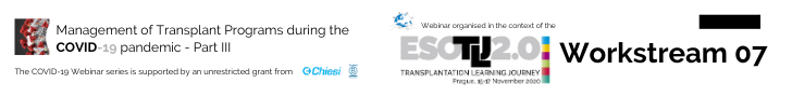 Management of Transplant Programs during the COVID-19 Pandemic. 29 June 2020