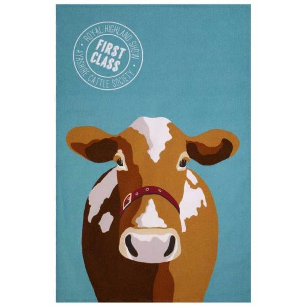 SALE!  Buttercup Cow Tea Towel