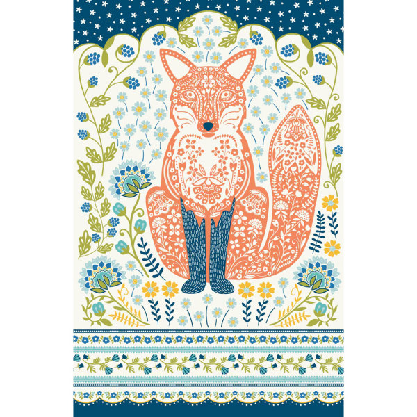 SOS!  Woodland Fox Kitchen Towel
