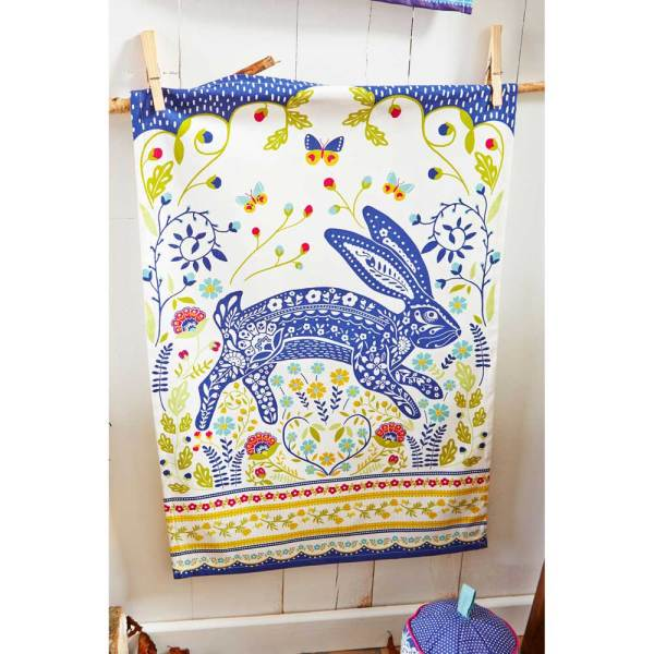 Woodland Rabbit Kitchen Towel
