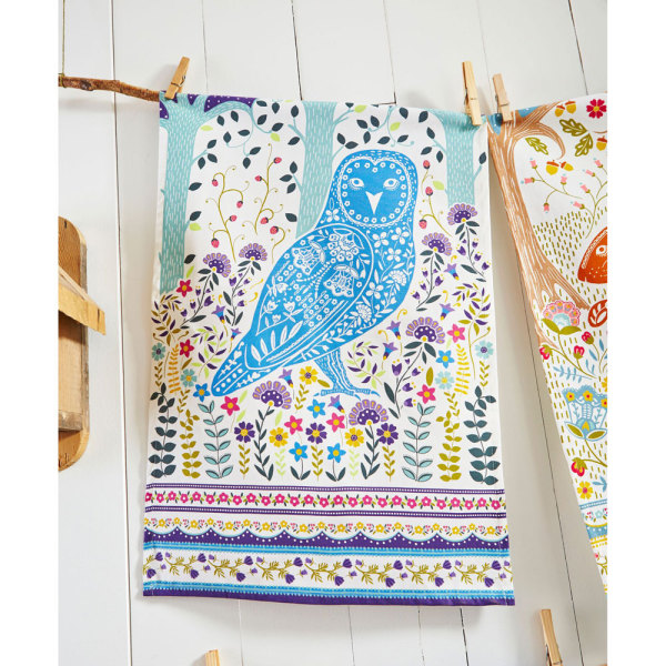 Woodland Owl Kitchen Towel