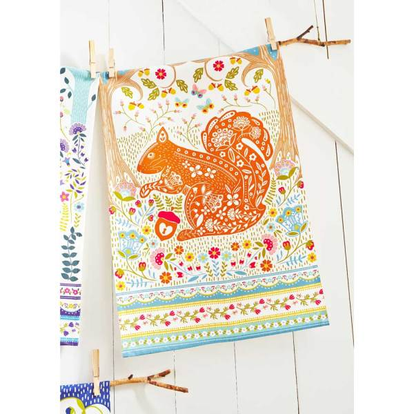 LTD QTY!  Woodland Squirrel Kitchen Towel