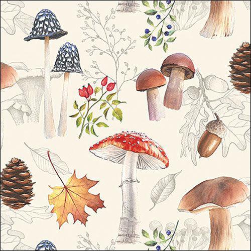 Autumn Nature Paper Lunch Napkins