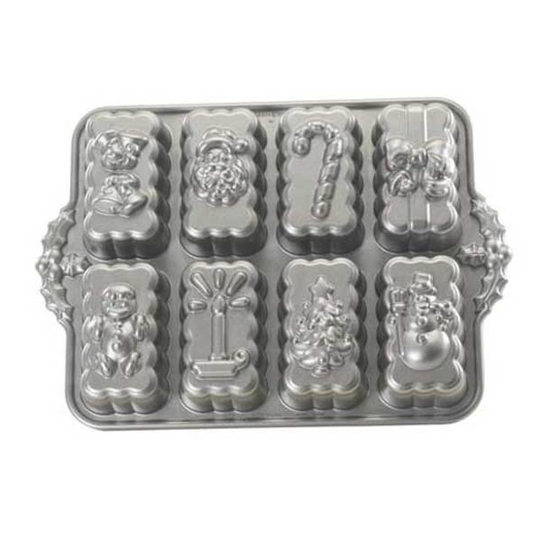 Holiday Mini Loaf Pan - Nordic Ware, 8 cavity