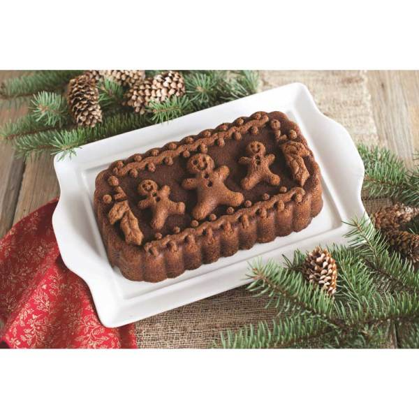 SALE!  Gingerbread Family Loaf Pan - Nordic Ware