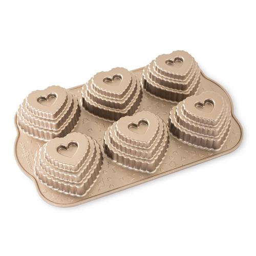Tiered Heart Cakelet Pan - Nordic Ware
