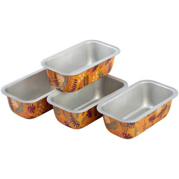Colorful Leaves Mini Loaf Pan Set