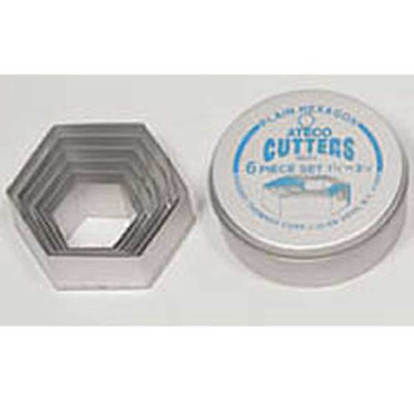 SALE!  Hexagon Cookie Cutter Set, Plain Edge