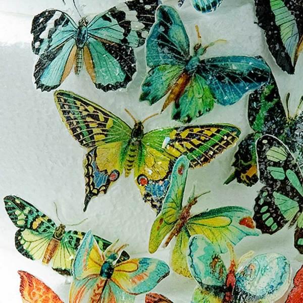 Butterflies Green Hues Wafer Paper
