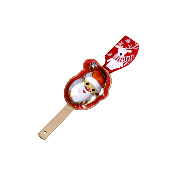 SALE!  Reindeer Spatula with Santa Cutter