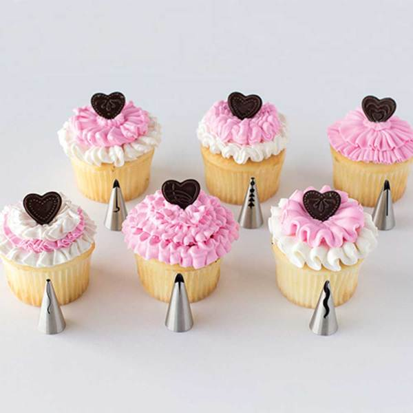 6 Piece Ruffle Piping Tip Set