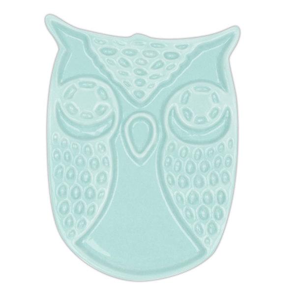 SALE!! Blue Owl Ceramic Spoon Rest