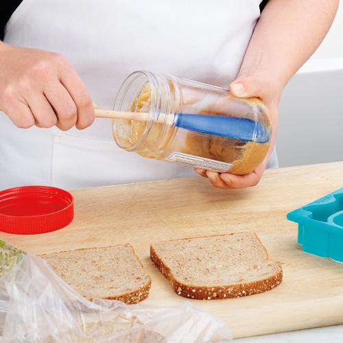 Wood Handled Jar Scraper - Indigo