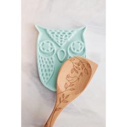 Etched Bird Corner Spoon