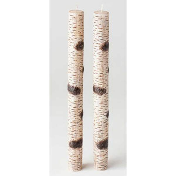 Birch Taper Candle Set